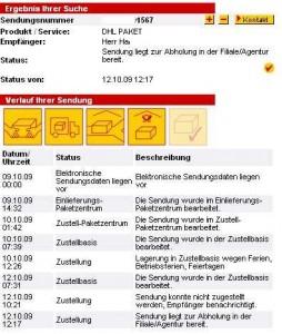 DHL-Paketverfolgung