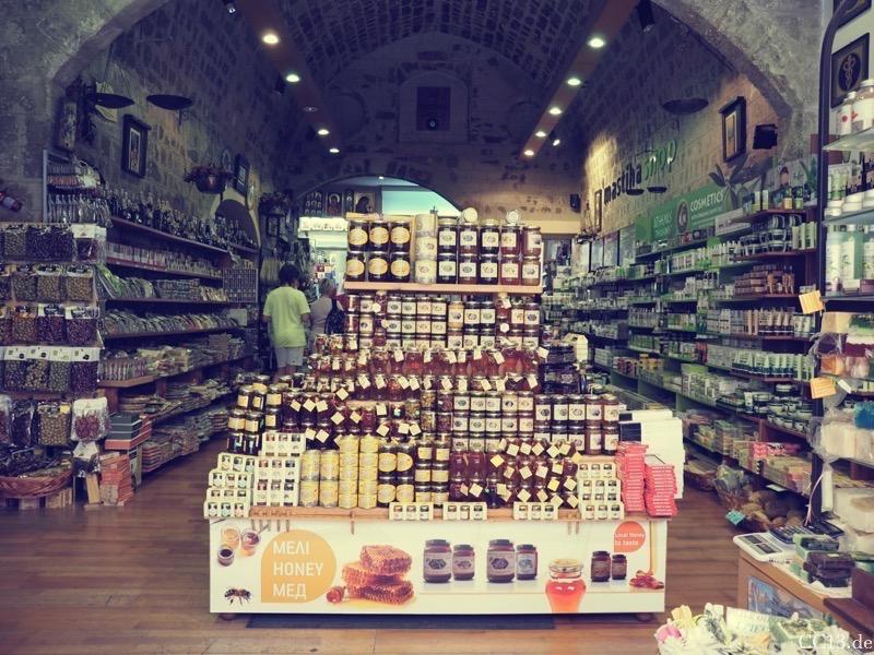 Lebensmittelladen in Rhodos Stadt