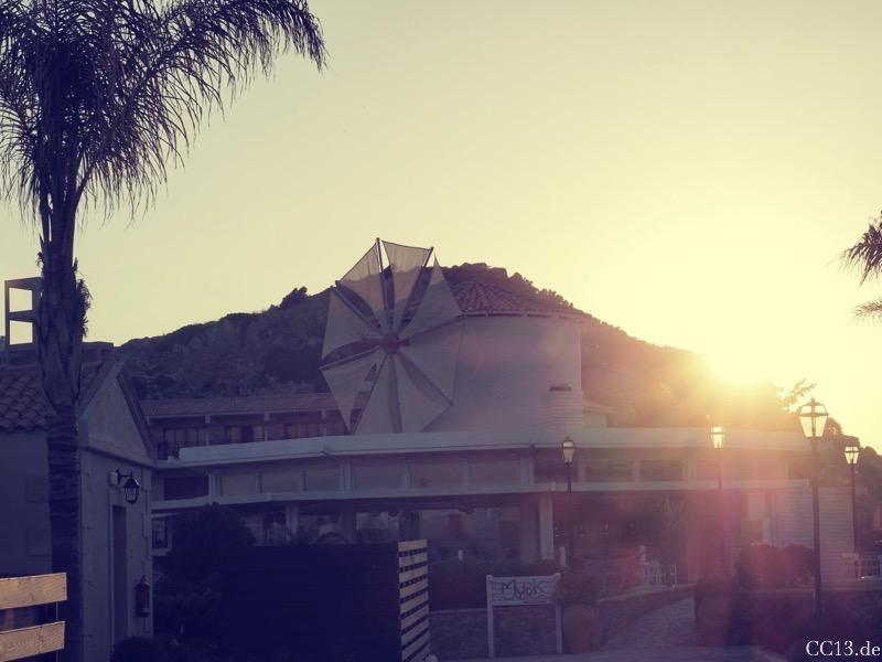 Sonnenuntergang in Kolymbia Beach